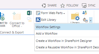 Document approval workflow in SharePoint 2013