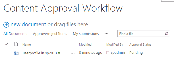sharepoint 2013 content approval