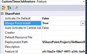 Error occurred in deployment step add solution a timerjobprocess feature with ID FeatureID SharePoint 2016