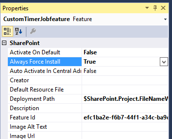 Error occurred in deployment step add solution a timerjobprocess feature with ID