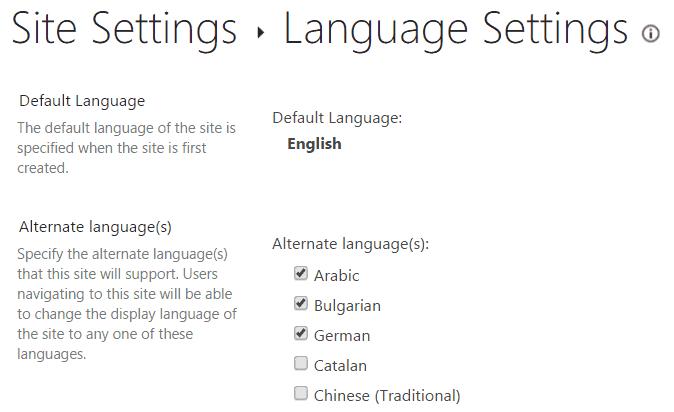 Steps to retrieve alternative languages from language settings in SharePoint online using JavaScript object model?