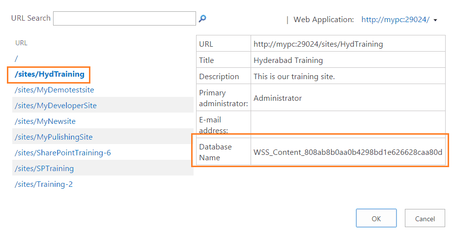 How to know which content database a site collection is using in SharePoint 2016 or SharePoint 2013?