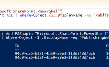 Get guid using powershell sharepoint 2013