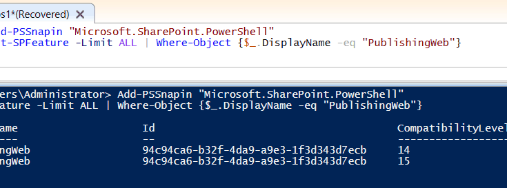 Get guid using powershell sharepoint 2013