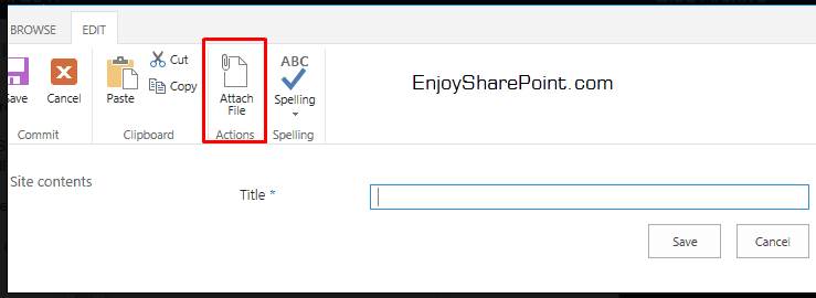 sharepoint hide attach file