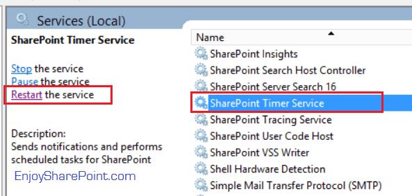 debug timer job in SharePoint 2013