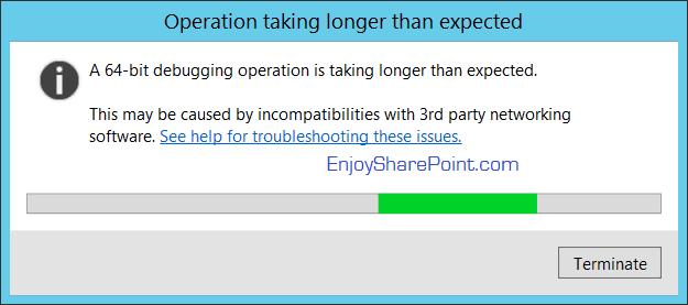 debug timer job in SharePoint 2016