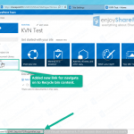 how to remove recycle bin from quick launch in sharepoint 2013