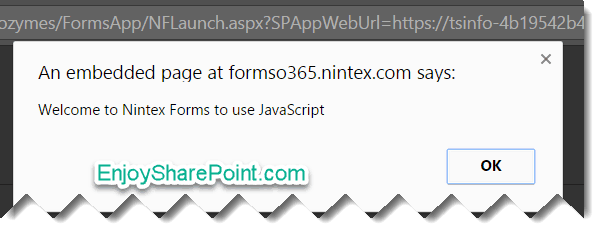 How to use JavaScript in Nintex forms for Office 365?