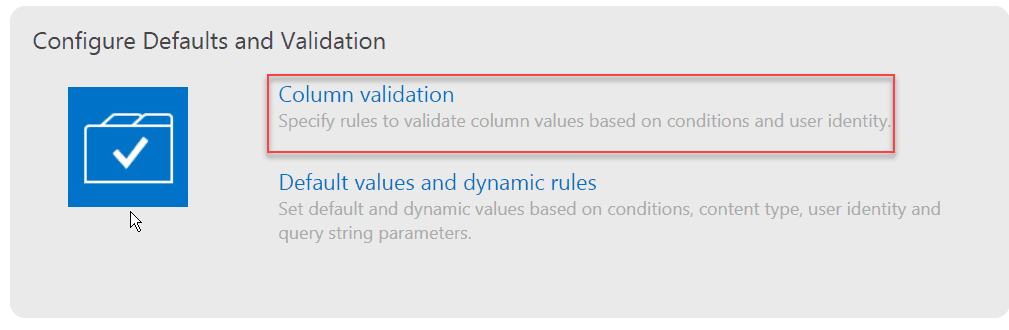 Infowise Ultimate Forms Column Validation