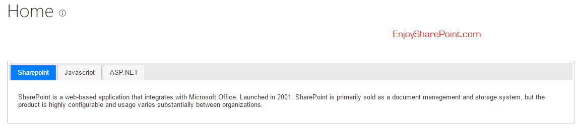 SharePoint online content search web part JQuery Tabs