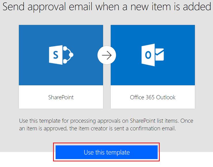 Send approval email when a new item is added