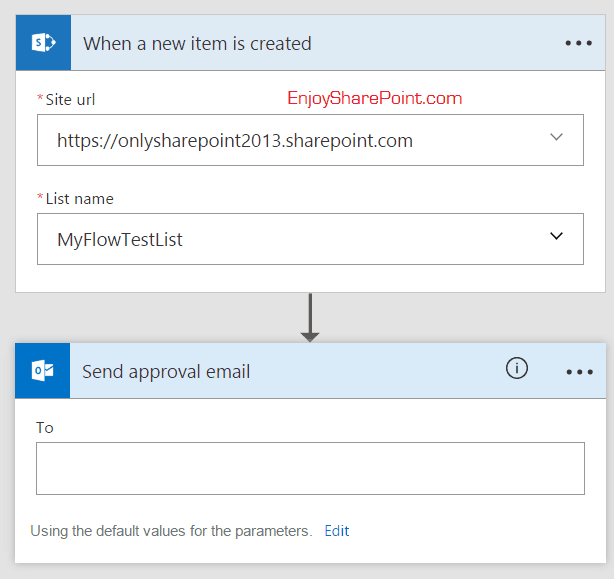 microsoft flow send approval email