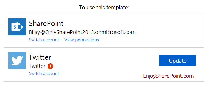 Microsoft flow: Save tweets that include the specific hashtag to a SharePoint list