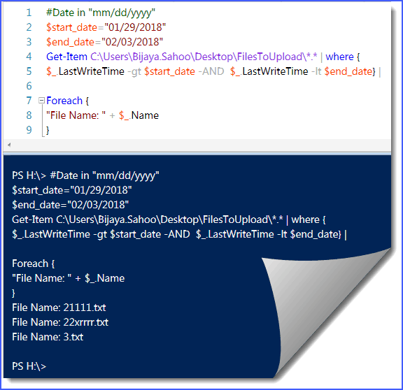 How to find Files Modified between dates from folder using PowerShell