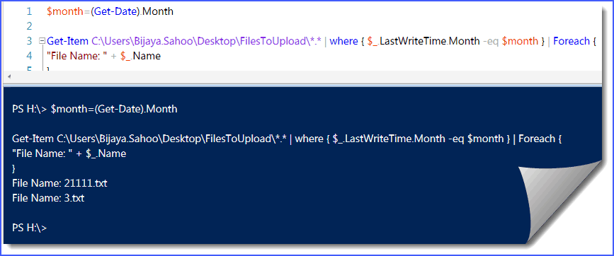 How to find files modified in current month from folder in PowerShell