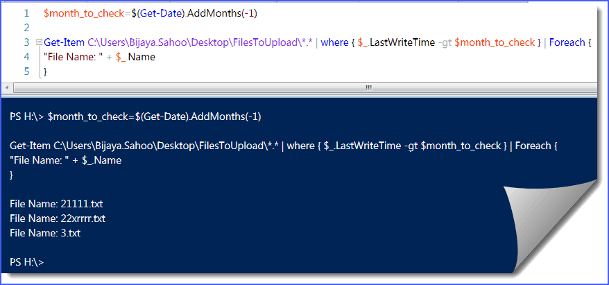 How to find files modified in last one month from folder in PowerShell
