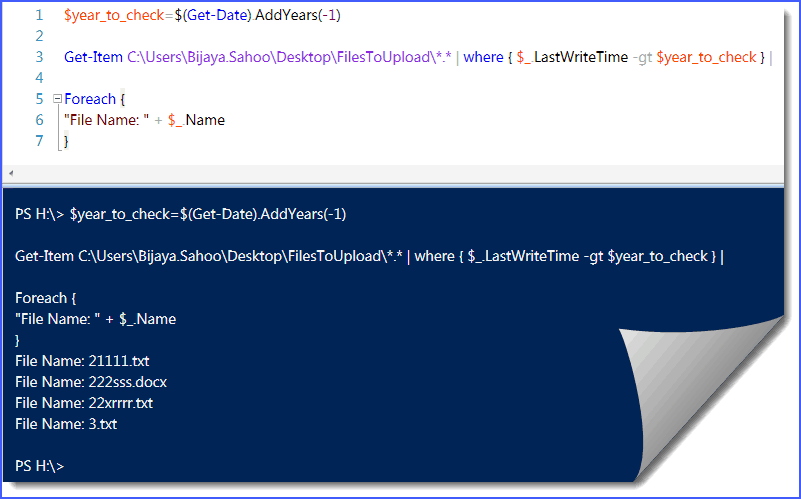 How to find files modified in last one year from folder in PowerShell