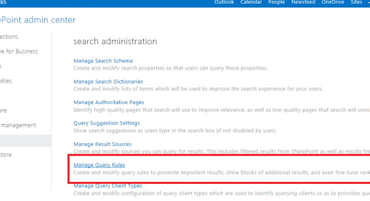 promoted results in sharepoint 2013
