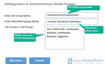 read global group users in sharepoint 2013