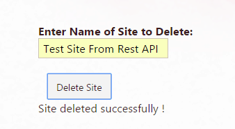 delete sharepoint online site using rest api