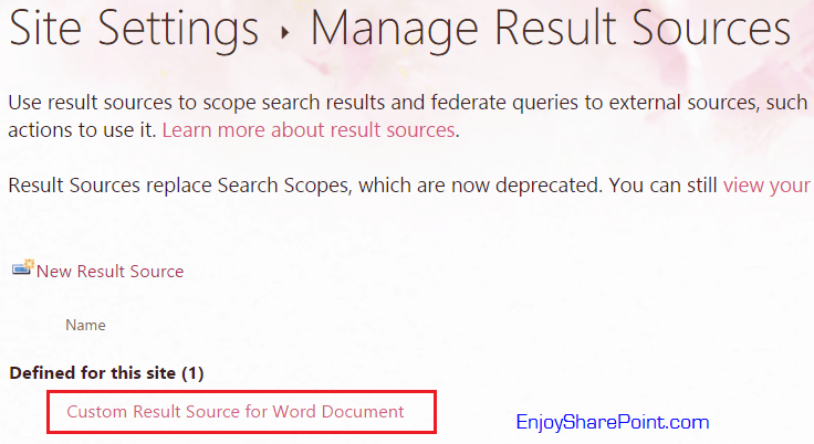 show only specific document sharepoint 2013 custom result source