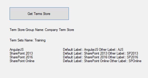 sharepoint get term store programmatically