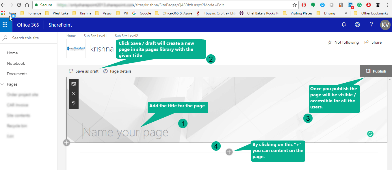 sharepoint online set modern page as homepage