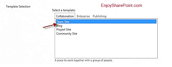 blank site template sharepoint 2010
