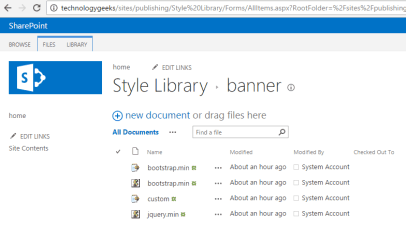 Create a bootstrap navigation menu in SharePoint
