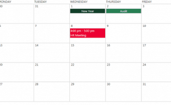 color coded calendar sharepoint 2013