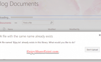 How to remove or hide Replace It button from file upload dialog box in SharePoint 2019?