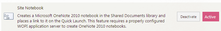 site notebook feature sharepoint online