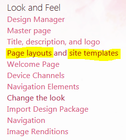 manage site template at site collection level
