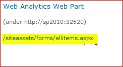 sharepoint 2010 page views