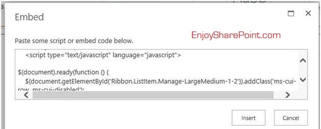 sharepoint 2013 show hide ribbon delete button using javascript.jpg