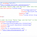 Create Custom Action Group using Visual Studio 2015 for SharePoint 2019