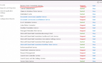 sharepoint 2016 error bcs there are no address available for this application 1