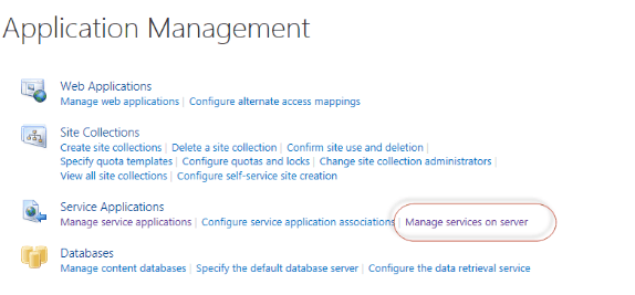 sharepoint 2016 error bcs there are no address available for this application