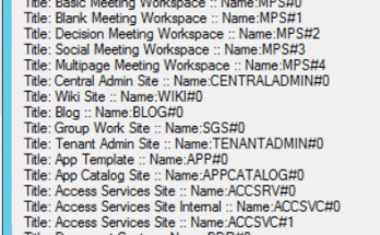 Retrieve all site templates using PowerShell and retrieve site templates using SharePoint 2016 server object model