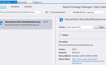 SharePoint Visual studio 2015 The type or namespace WorkflowServicesManager could not be found