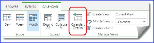 calendar overlay sharepoint