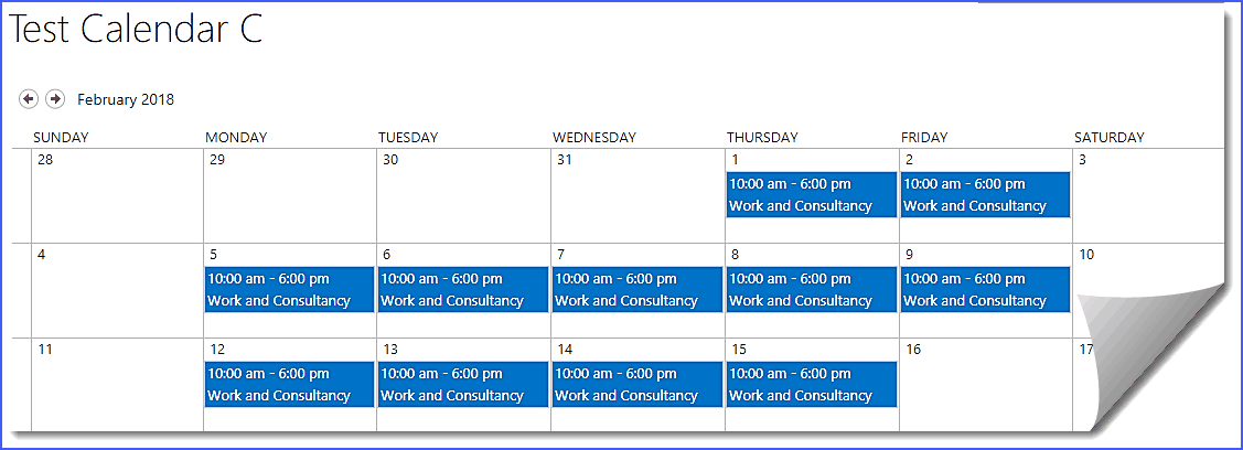 sharepoint calendar overlay