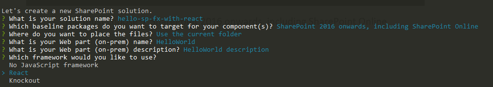 sharepoint framework web parts