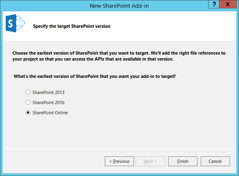 develop SharePoint hosted add-in using visual studio