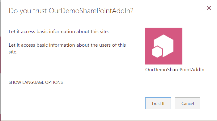deploy SharePoint hosted add-in to app catalog site