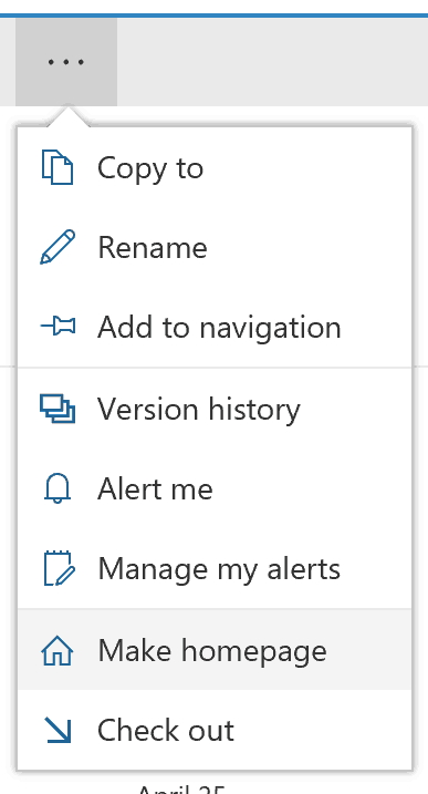 sharepoint-online change welcome page