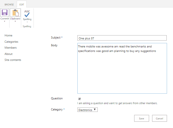 Overview of Community site template in SharePoint Online