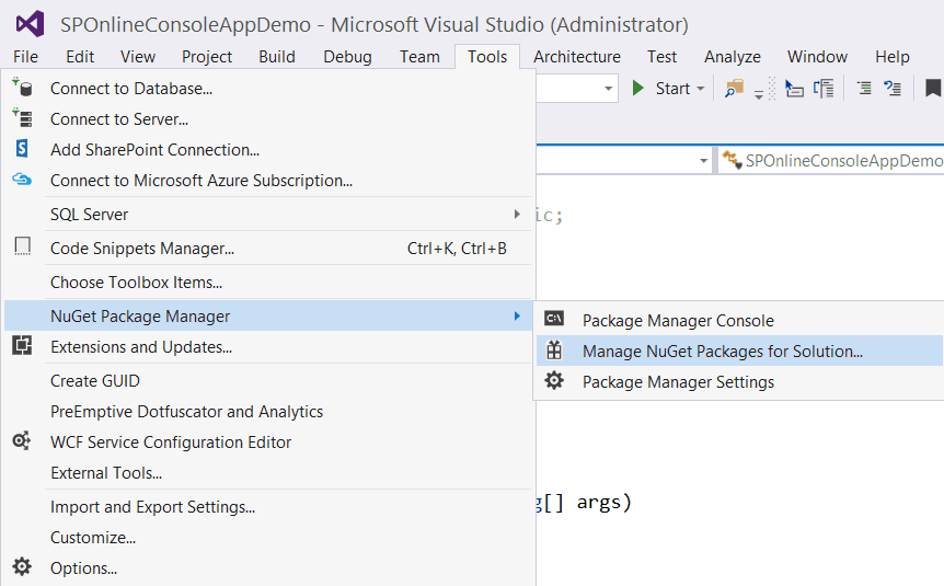 creating a simple console application in sharepoint 2013
