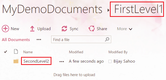 Create folder and sub folder inside document library using .Net client object model in SharePoint online